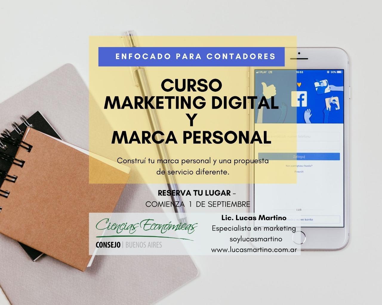Curso de Marketing Digital y Marca Personal enfocado a Profesionales en Ciencias Económicas